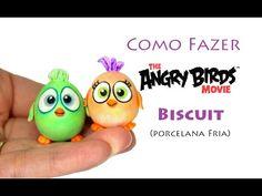 Totorial Angry Birds baby Ponteira de lápis biscuit, Angry Birds Clay Figures Viviana Biscuit - YouTube