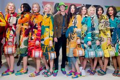 A look backstage at the Burberry Prorsum spring summer 2015 collection.