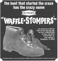 Dunham's Waffle-Stompers 1971 Ad