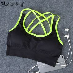 5131a84f65601 HOT Women Fitness Yoga Sports Bra For Running Gym Adjustable Spaghetti  Straps Padded Top Seamless Top Athletic Vest S M L