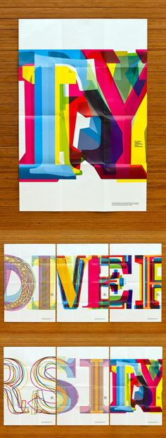 Bill Bernbach Diversity Scholarship Typographic Poster Series
