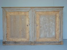French Buffet with Two Doors, Circa:End of 19th Century, Distressed Painted Finish