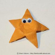 Egg Carton Star Fish Craft - great idea!