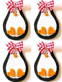Patrones de pinguinos navideños con fieltro03