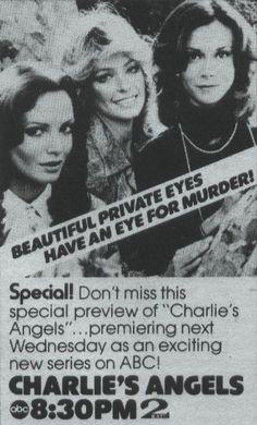 Charlie's Angels pilot episode promotional ad.