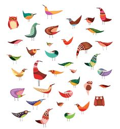 Lisa Evan's illustration for Nordstroms by billie Bird Illustration, Graphic Design Illustration, Motifs Textiles, Guache, Art Graphique, Cute Owl, Bird Art, Beautiful Birds, Beautiful Things