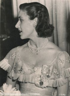 Princess Margaret at party