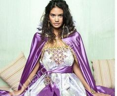 Robe de soirée kabyle moderne