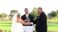 "Eagle Creek Golf Club Wedding ""Unity Cross Ceremony"" I've been going back and forth about this and I love it."
