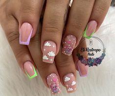 Nail Manicure, Gel Nails, Gorgeous Nails, Nail Designs, Hair Beauty, Lily, Nail Art, Ideas, Elegant Nails