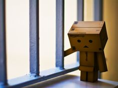 Little Box Man Sad