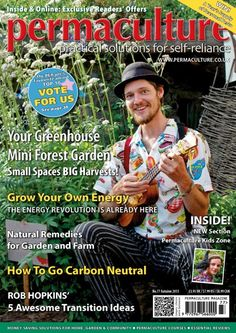 charlie mcgee from formidable vegetable sound system on the front of permaculture magazine.. :) :) :)