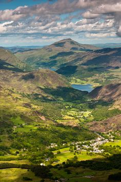 Beddgelert, Snowdonia , Wales, UK - Just look at all that rolling luscious green land. Makes me just dream and feel at peace. Oh The Places You'll Go, Places To Travel, Places To Visit, Wales Uk, North Wales, Snowdonia, Just Dream, England And Scotland, Parcs