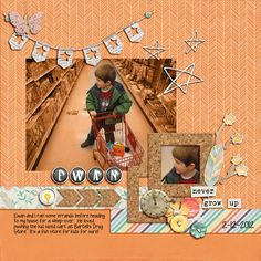 Digital Scrapbook Page Layout by Diane using the Pixie Dust Papers Kit and Pixie Dust Element  Kit from Amy Wolff at The Lilypad #amywolff #thelilypad #digitalscrapbooking #memorykeeping