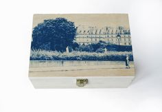 DECORATED wooden BOX with cyanotype Paris by StunningInstants