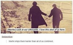 Actually though everyone ships them except John. Even the flip fracking actor ships them!