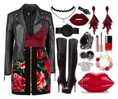 """""""♫ I don't know why but my hands are shaking. I can see you coming and I stand here waiting. Yeah I get tongue tied in the conversation. It's an F'd up, bad, sick situation. ♫"""" by casey-is-a-secret-agent ❤ liked on Polyvore featuring Boohoo, Lipsy, Balmain, Chinese Laundry, Lulu Guinness, Oscar de la Renta, Chanel, Lime Crime and CaseysFashionSets"""