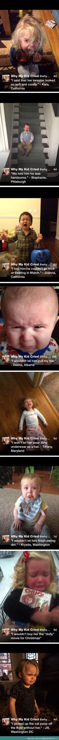 Why my kid cried