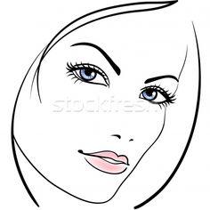 Stock photo: beauty girl face vector icon