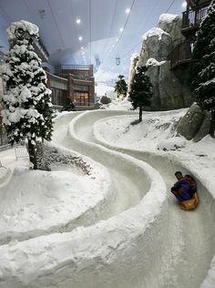 Ski Dubai, the world's largest snowdome, at the Mall of the Emirates in Dubai, United Arab Emirates -and a whole lot of fun