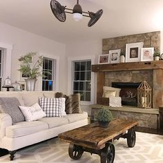 LOVE that fireplace
