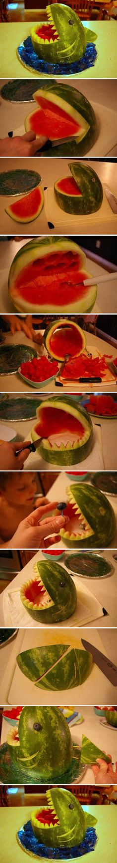 DIY watermelon shark