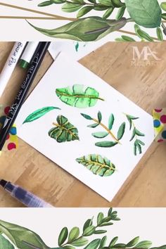 Get Inspired and practice your skills! This Brush Pen has a water-based ink and can be used like a regular Watercolor paint! 💖 . . . . . #BotanicalArt #Leaves #Art #DailyArt #ArtInspiration #WatercolorArt #Art #DailyArt #MozArtSupplies #Watercolour #Watercolor Water Brush Pen, Brush Pen Art, Watercolor Brush Pen, Watercolor Effects, Watercolor Paintings, Watercolor Paper, Watercolors, Ink In Water, Pen Design