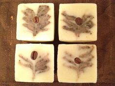 Coffee and Cream. Handmade soap, cold process soap, all natural soap, vegan soap by www.superfat.cc.