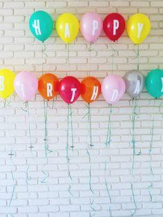 Birthday Balloon banner