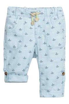 Calças pull-on em algodão - H&M