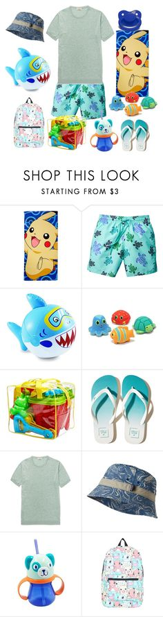 """""""Little Boy Beach Day"""" by lilcuriosity ❤ liked on Polyvore featuring The Northwest Company, Hollister Co., John Smedley, Patagonia, Nintendo, men's fashion and menswear"""