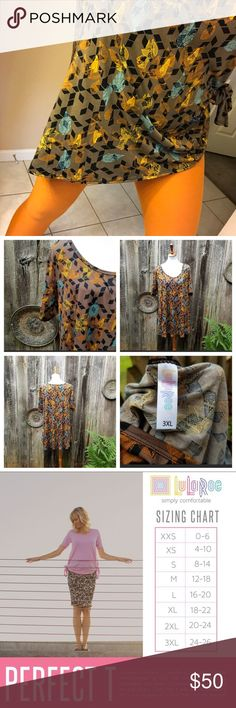 🌟#LuLaRoe Outfit 3X #PerfectTee & OS #Leggings🍂 This is a really earthy outfit! Love the One Size ( 0-10) Leggings in rust/ orange spice with the 3XL Perfect Tee in Chocolate color featuring black geo print and minty blue/teal, golden yellow/mustard and rust/orange leaves.   Each piece worn once and washed. Flawless conditions. Not new w tags like 85% of our listings. But could be. Just too much LuLa! These are great together! LuLaRoe Other