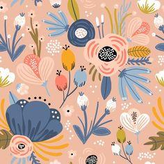 Floral Texture, Motif Floral, Floral Prints, Art Prints, Illustration Blume, Pattern Illustration, Cortina Floral, Flower Power, Love Wallpaper