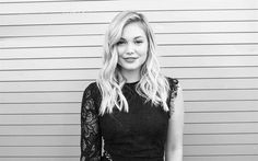Olivia Holt, American actress, portrait, blonde, beautiful woman