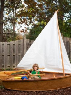 Inspire your little pirate's imagination and add nautical flair to your backyard with a one-of-a-kind sandbox made from a wooden rowboat--> http://www.hgtv.com/decks-patios-porches-and-pools/how-to-make-a-rowboat-sandbox/index.html?soc=pinterest