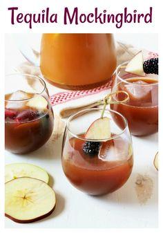 Tequila Mockingbird | A crisp, refreshing cocktail of apple cider, tequila, crème de cassis & fresh lemon juice! @annemhorton