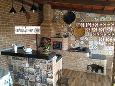 Outdoor Kitchen Design, Modern Kitchen Design, Patio Bar, Backyard Patio, Bedroom Closet Design, Bedroom Decor, Four A Pizza, Diy Shower, Cottage Interiors