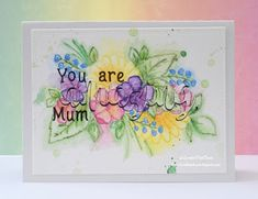 InvisiblePinkCards: Handmade Mother's Day card using STAMPlorations stamps and watercolours