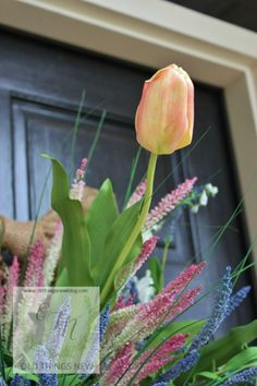 DIY Spring Basket on Front Door