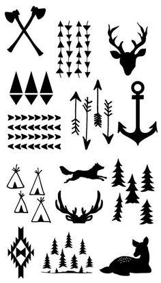 Lumberjack or camping printable free: