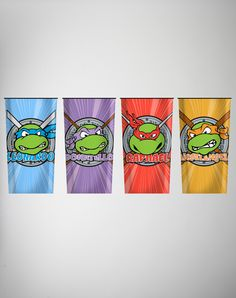 Teenage Mutant Ninja Turtles Party Glass 4 Pk