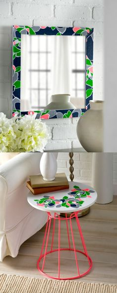 Learn how to revamp a mirror and a tabletop using Mod Podge - and a pillowcase!