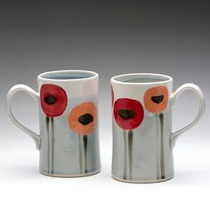 Cute Gift: Poppy mugs---extra tall for cold weather coffee fill-ups! Pair with coffee, hot chocolate, tea or a coffee shop giftcard