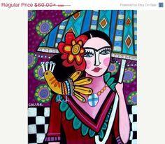 50% OFF FREE SHIPPING Mexican Folk Art Frida by HeatherGallerArt