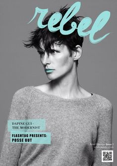 REBEL Typeface + Magazine Masthead in Typography