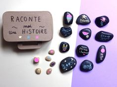 DIY Tell me a story by Moma raconte moi une histoire avec des galets!