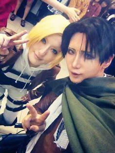 Reika as Rivaille. Shingeki no Kyojin cosplay ♥