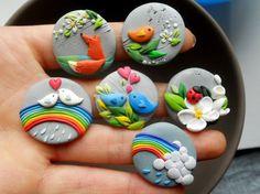 #polymer #clay idea birds | http://beautifulbirdofparadise.blogspot.com