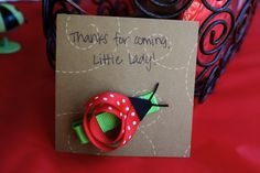 A lady bug birthday party for our little Saydee Lady Bug!