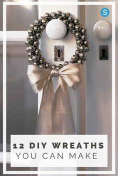 Dress up your home for the Holidays with these wreath and decorating ideas. Get inspired with these simple and easy DIY crafting Christmas wreaths: http://simplemost.com/15-diy-wreaths-get-home-looking-festive-no-time?utm_campaign=social-account&utm_source=pinterest&utm_medium=organic&utm_content=pin-description
